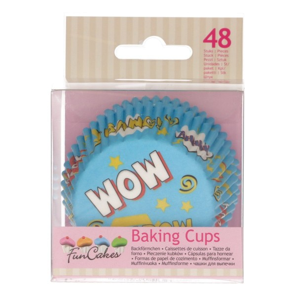 FUNCAKES BAKING CUPS -SUPERHELDEN- PK/48