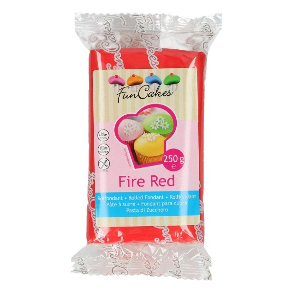FunCakes Fondant Fire Red