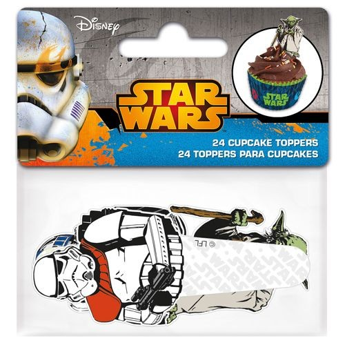 STOR CUPCAKE TOPPERS STAR WARS aus Papier PKG/24