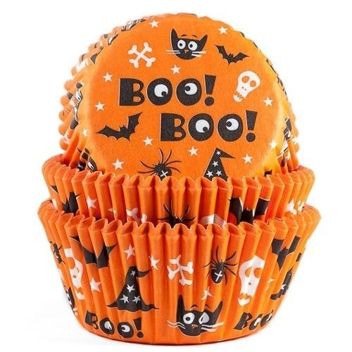 HOUSE OF MARIE BAKING CUPS HALLOWEEN PK/50