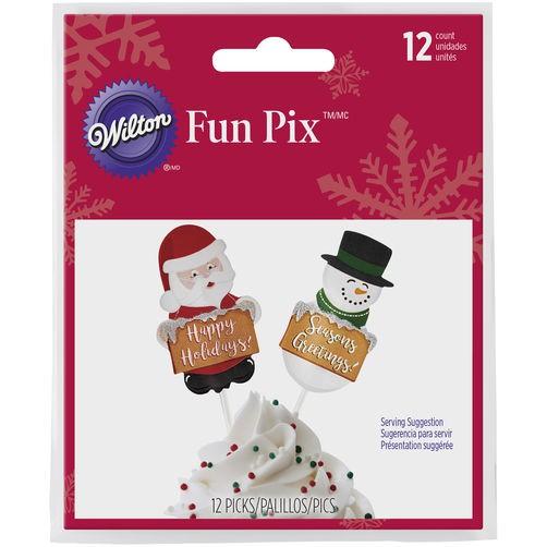 WILTON FUN PIX CHRISTMAS 12 Stück