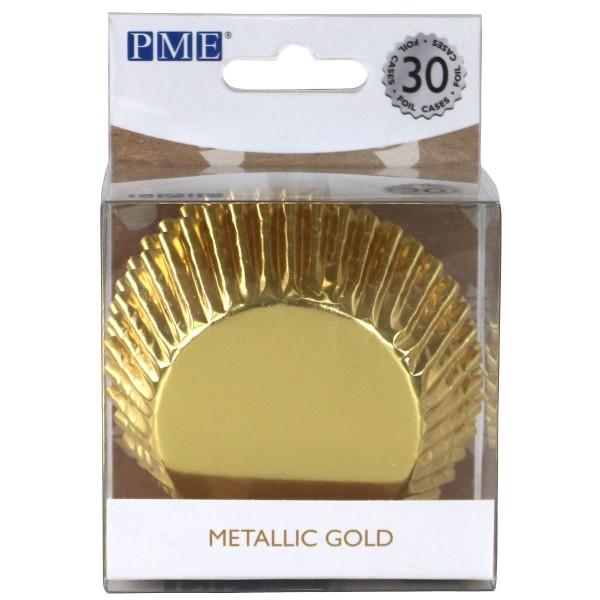 PME BACKFÖRMCHEN METALLIC GOLD PK/30