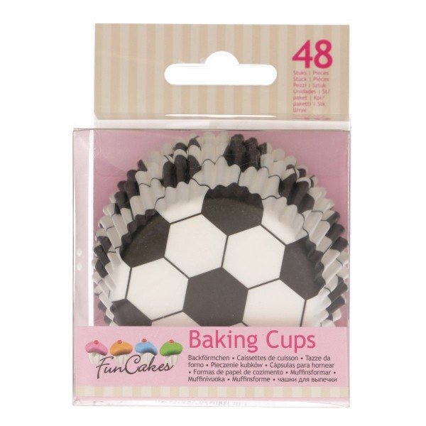 FUNCAKES BAKING CUPS -FUSSBALL- PK/48