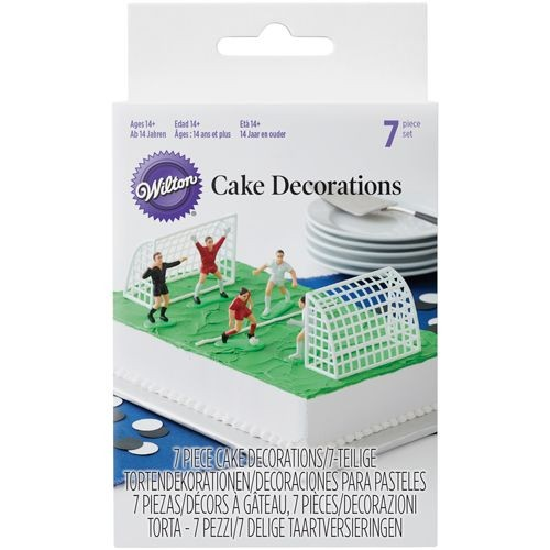 WILTON CAKE DECORATIONS FOOTBALL-SOCCER SET/7