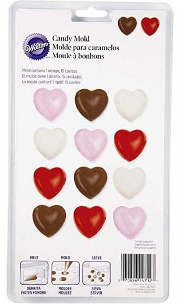 Wilton Candy Mold Herz 15 Formen 1 Design