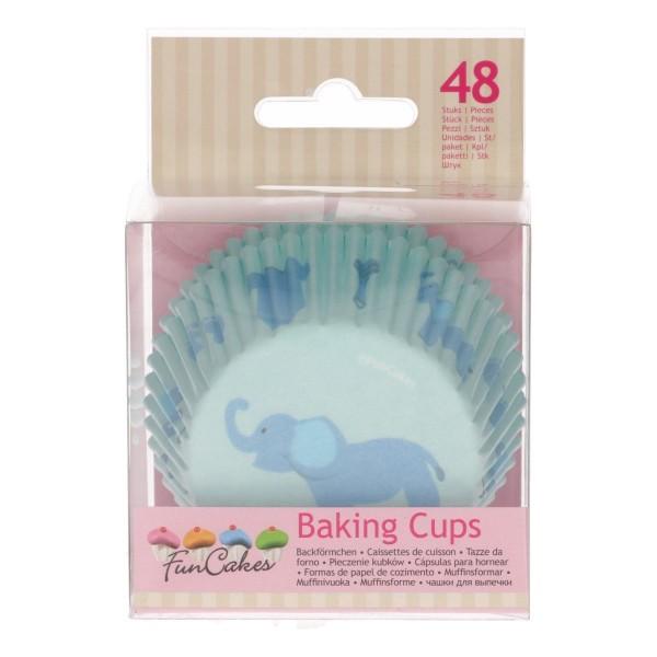 FUNCAKES BAKING CUPS -BABY JUNGE- PK/48