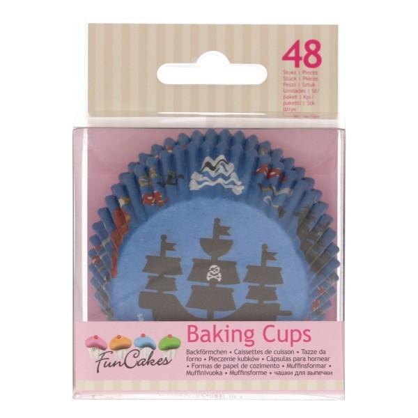 FUNCAKES BAKING CUPS -PIRATEN- PK/48