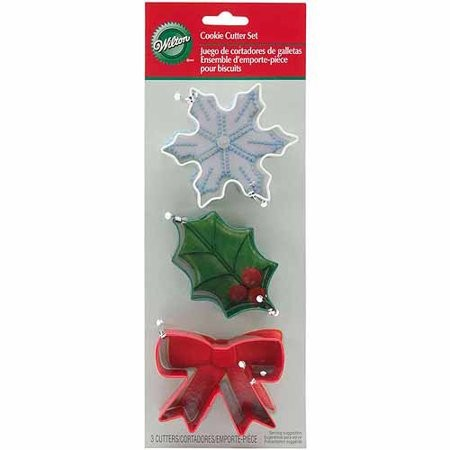 WILTON COOKIE CUTTER SET HOLIDAY SET/3