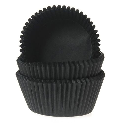 HOUSE OF MARIE MINI BAKING CUPS schwarz - PK/60