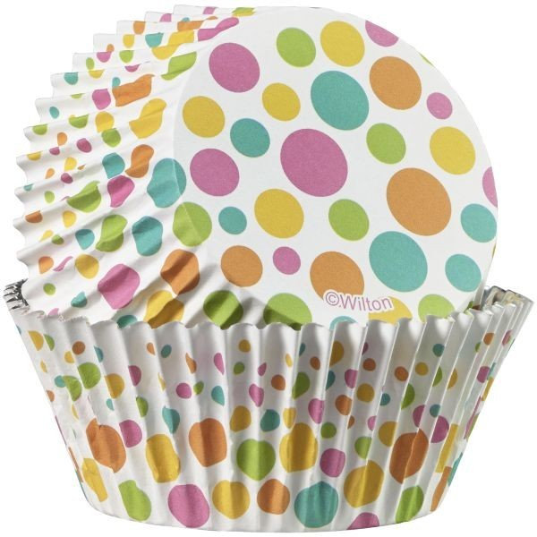 WILTON COLORCUPS BAKING CUPS DOTTS MINIs 36 Stück