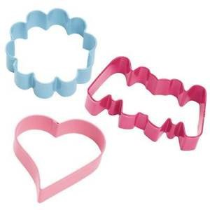 WILTON COOKIE CUTTER SET FLOWER/HEART/MOM 3teilig