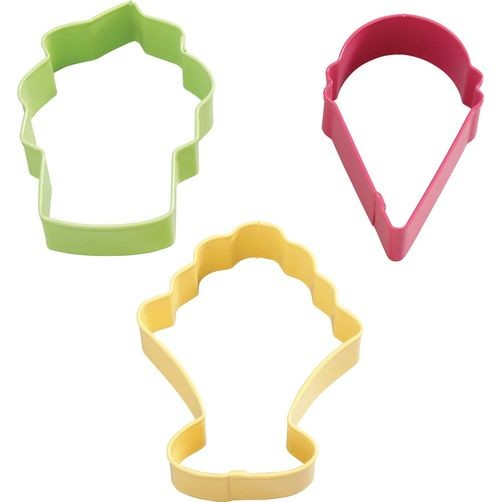 WILTON Metal Cookie Cutter Set Ice Cream 3TEILIG