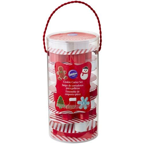 WILTON COOKIE CUTTER SET HOLIDAY TUBE SET/10