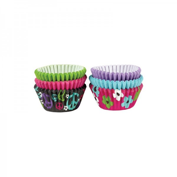 WILTON MINI BAKING CUPS Peace & Flowers 150 Stück