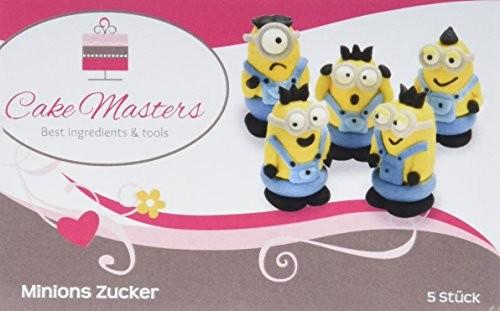 Cake Masters Minions Zucker 5 Stück handgemacht