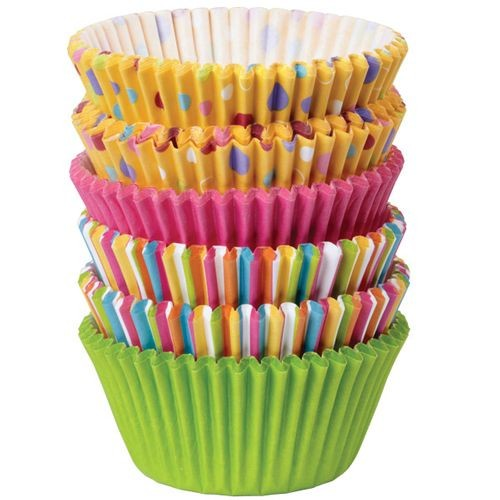 WILTON BAKING CUPS SWEET DOTS AND STRIPES 150 Stück