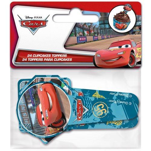 STOR CUPCAKE TOPPERS CARS aus Papier PKG/24