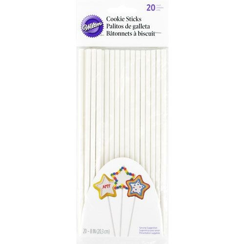 WILTON COOKIE TREAT STICKS 20CM 20 Stück für Cakepops