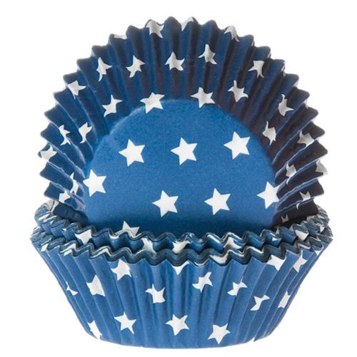 HOUSE OF MARIE BAKING CUPS STERN BLAU 50 Stück
