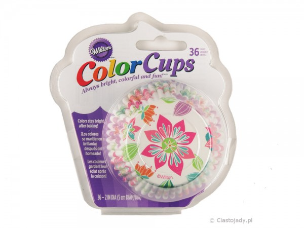 WILTON COLORCUPS BAKING CUPS Blume 36 Stück