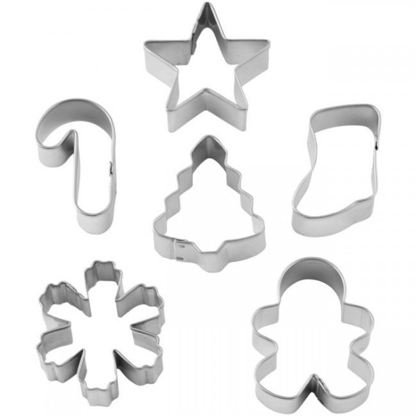 WILTON MINI COOKIE CUTTER SET CHRISTMAS MINI SET/6