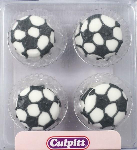 Culpitt Cupcakes Deko Fußball, 12 Stck. 2,5 cm